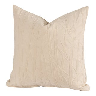 Bamboo Patterned Throw Pillow