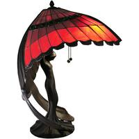 Karlie Flying Lady Red 2-light Tiffany-style Table Lamp