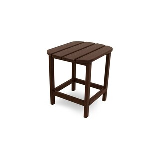 POLYWOOD South Beach 18 inch Outdoor Side Table (Option: Mahogany)