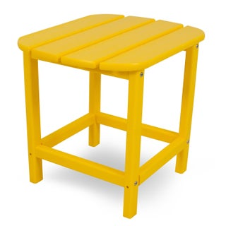 POLYWOOD South Beach 18 inch Outdoor Side Table (Option: lemon)
