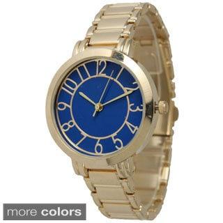 Olivia Pratt Women's Petite Gold Dial Bracelet Watch
