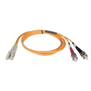Tripp Lite 50M Duplex Multimode 62.5/125 Fiber Optic Patch Cable LC/S