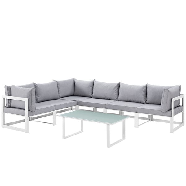 shop chance 7 piece outdoor patio sectional sofa set on sale free shipping today overstock. Black Bedroom Furniture Sets. Home Design Ideas