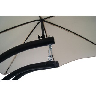 Island Retreat Hanging Lounge w/ Shade Canopy