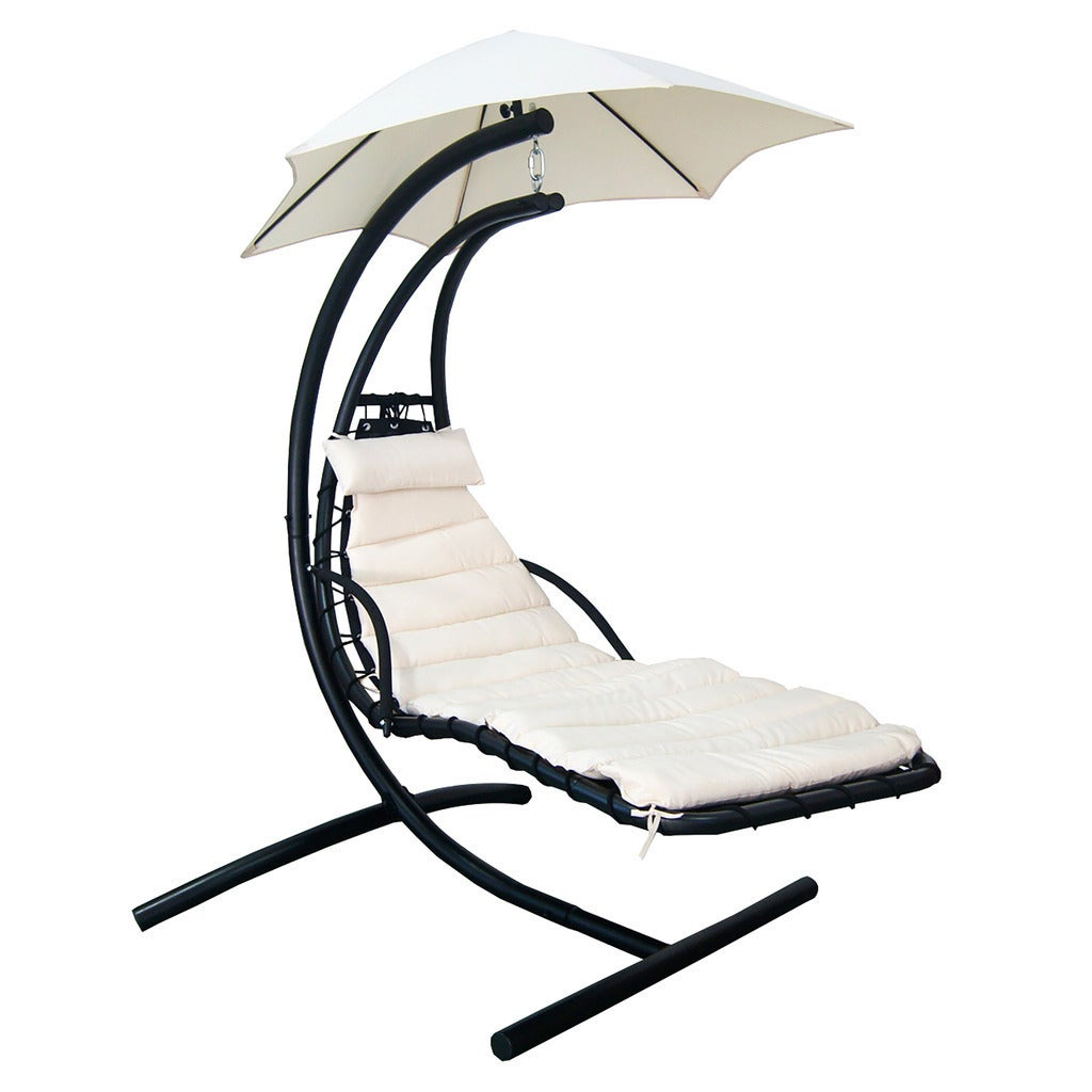 Blue Wave Island Retreat Hanging Lounge With Shade Canopy Terra Cotta Ebay