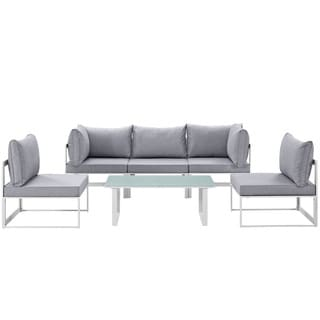 Link to Chance 6-piece Outdoor Patio Sectional Sofa Set Similar Items in Outdoor Sofas, Chairs & Sectionals