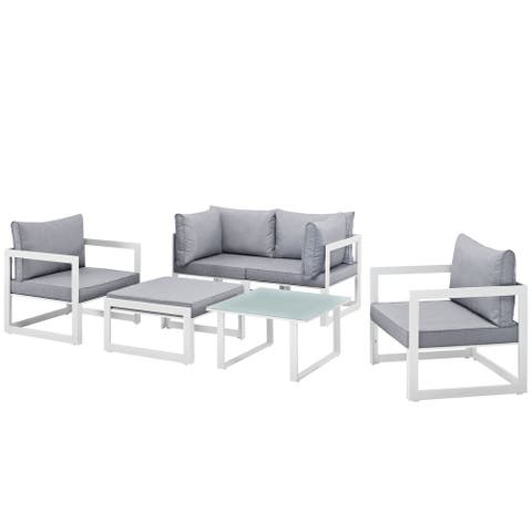 Chance 6-piece Outdoor Patio Sectional Sofa Set