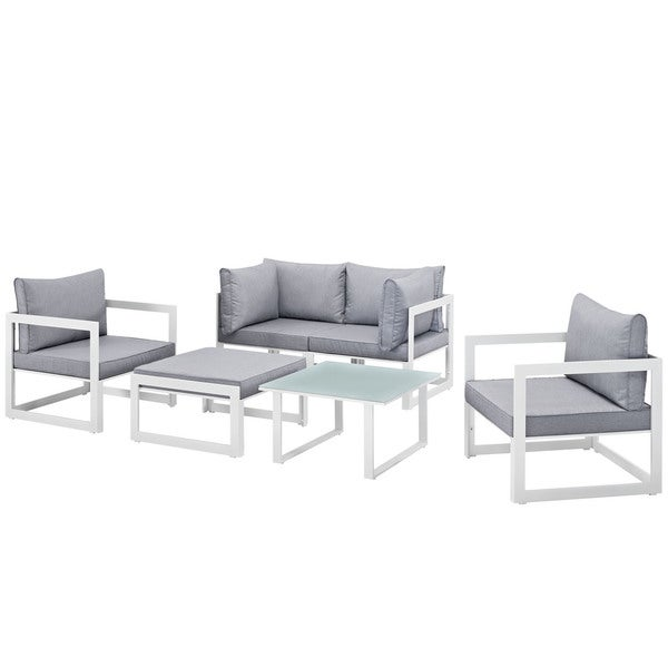Chance 6-piece Outdoor Patio Sectional Sofa Set. Opens flyout.