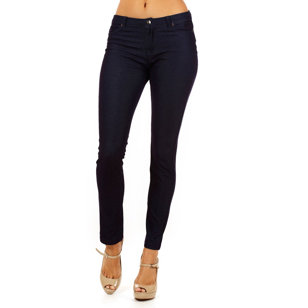 Dinamit Womens Golden Tight Knitted Texture Pants