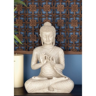 White Buddha Statue with Ivory finish