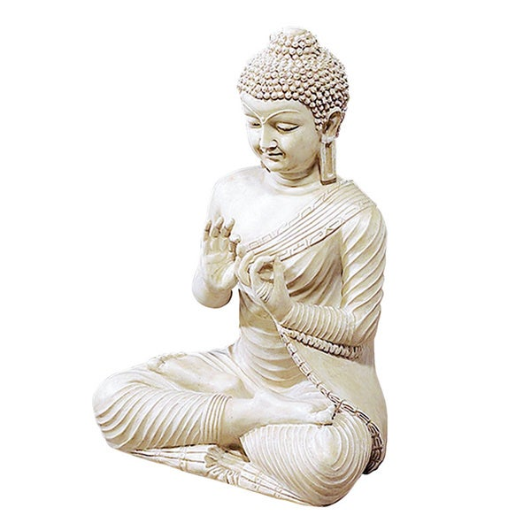 Benzara ivory finish buddha statue free shipping today - Bouddha statue deco ...