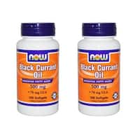 Now Foods Black Currant Oil (100 Softgels) (Pack of 2)