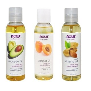 Now Foods 3-pack Avocado, Apricot, Almond Oil, Skin and Hair Solutions