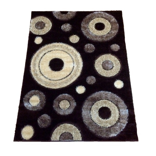 Rya Extra Plush 1022 Brown Area Rug (8' x 11') - 7'10 x 10'2