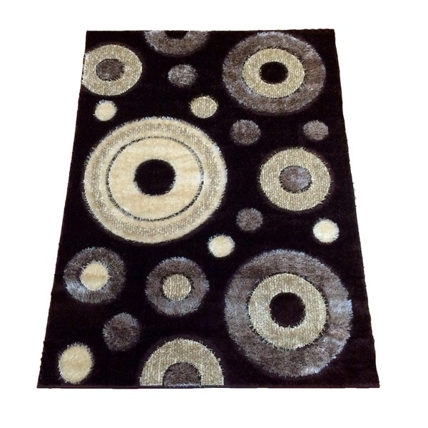 Rya Extra Plush 1022 Brown Area Rug - 7'10 x 10'2