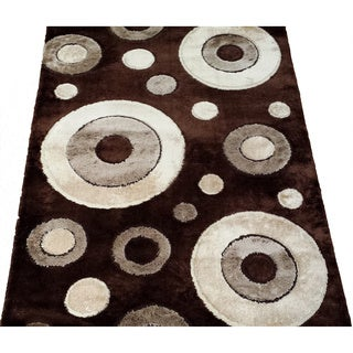 LYKE Home Rya Extra Plush Brown Area Rug (5' x 8')