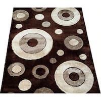 LYKE Home Rya Extra Plush Brown Area Rug - 5'3 x 7'3