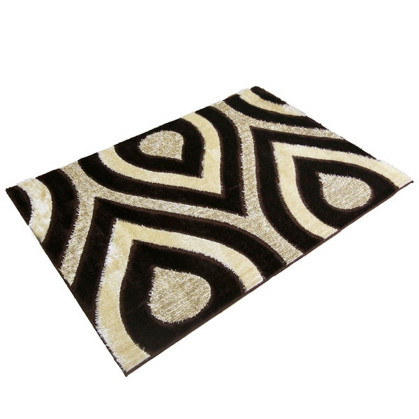 LYKE Home Rya Extra Plush Brown Area Rug - 7'10 x 10'2