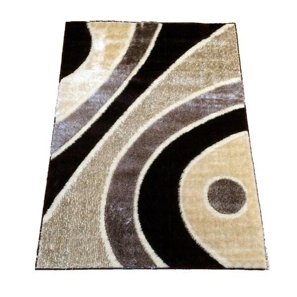LYKE Home Rya Extra Plush Brown Area Rug (5' x 8') - 5'3 x 7'3