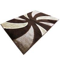 Rya Extra Plush 1039 Brown Area Rug - 5'6 x 7'5
