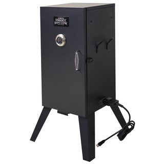 Black Powder-coated Steel 26-inch Smoke Hollow Electric Smoker