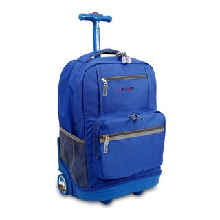J World New York Sunset 18-inch Rolling Backpack