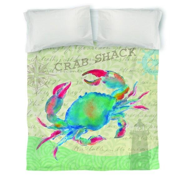 Salty Air Crab Duvet Cover