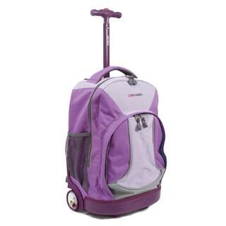 J World New York Sunday 18-inch Rolling Backpack