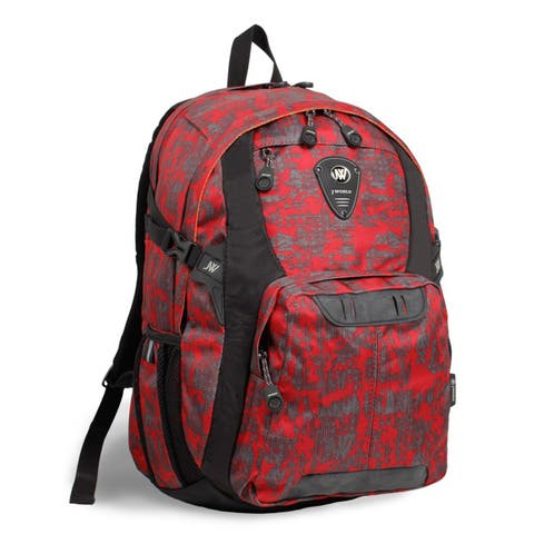 J World New York Haid Frost Red 15-inch Laptop Backpack