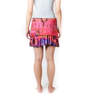 Women's Tie-dye Organic Cotton Skirt (Nepal)