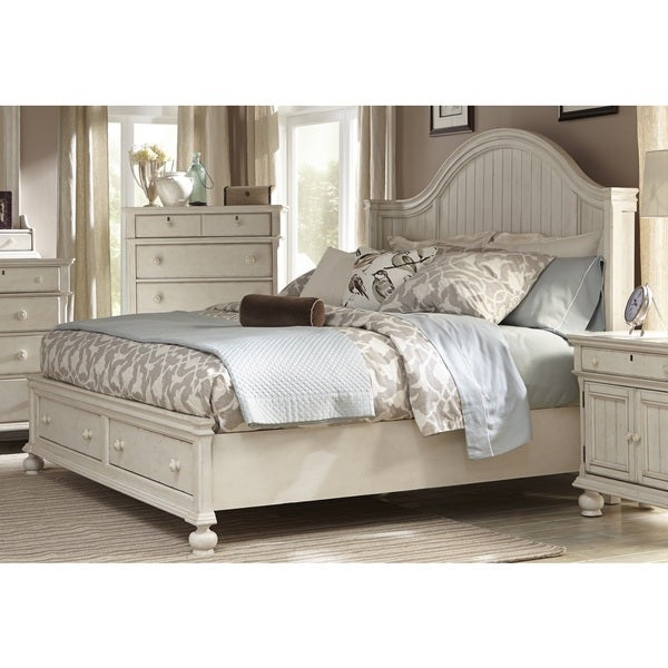 greyson living laguna antique white storage bed 17210856