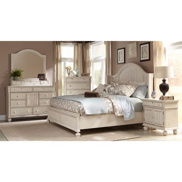 Shop Laguna Antique White Panel Bed 6-piece Bedroom Set by ...