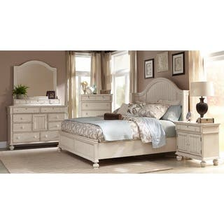 Laguna Antique White Panel Bed 6 Piece Bedroom Set By Greyson Living