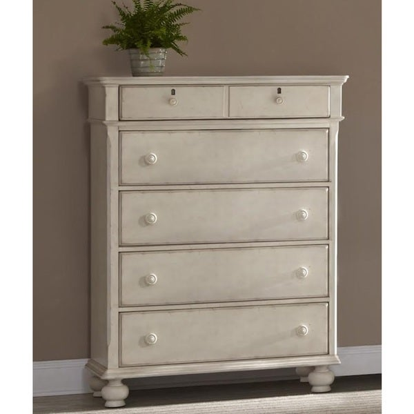 Laguna Antique White 5-drawer Chest by Greyson Living