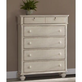 Greyson Living Laguna Antique White 5-drawer Chest