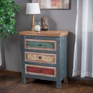 Everest 3-Drawer Wood Cabinet by Christopher Knight Home