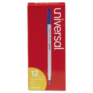 Universal Economy Blue Ink Ballpoint Stick Oil-Based Pen (10 Packs of 12)