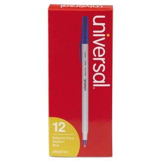 Universal Economy Blue Ink Ballpoint Stick Oil-Based Pen (10 Packs of 12)