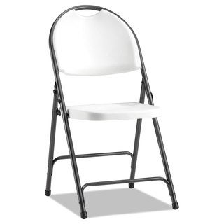 Alera Molded Resin White/Black Anthracity Folding Chair