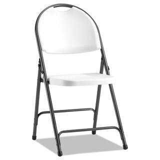 Alera Molded Resin White/Black Anthracity Folding Chair