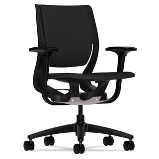 HON Purpose Black/Black Upholstered Flexing Task Chair