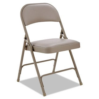 Alera Steel Tan Folding Chair (Option: Tan)