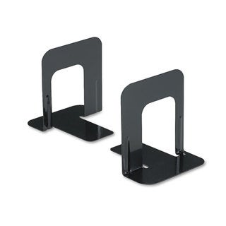 Universal Economy Nonskid Black Bookends (Pack of 7)