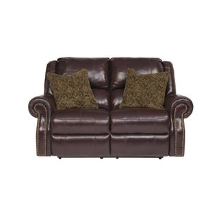 Signature Design by Ashley Walworth Blackcherry Reclining Power Loveseat