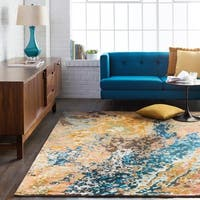 Hand-Knotted Heywood Abstract Viscose Area Rug - 9' x 13'