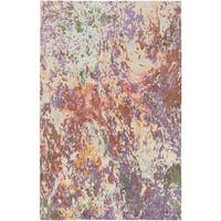 Hand-Knotted Helston Abstract Viscose Area Rug (9' x 13') - 9' x 13'