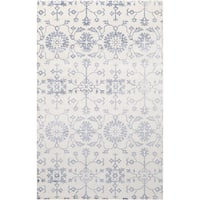 Hand-Loomed Northam Floral Indoor Viscose Area Rug - 2' x 3'