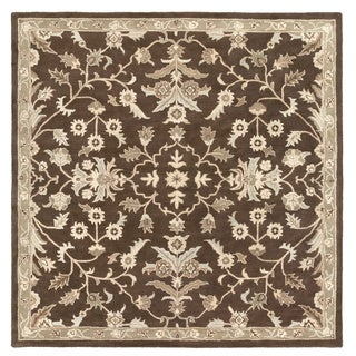 Hand-tufted Karla Traditional Wool Area Rug (9'9 Square)