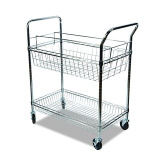 Alera Chrome Carry-all Cart/Mail Cart