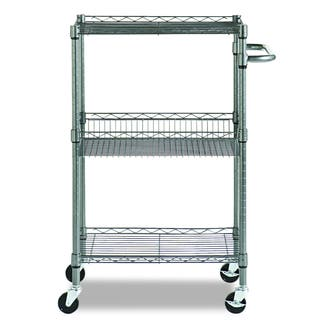 Alera Black Anthracite Three-Tier Wire Rolling Cart|https://ak1.ostkcdn.com/images/products/10066471/P17210972.jpg?impolicy=medium